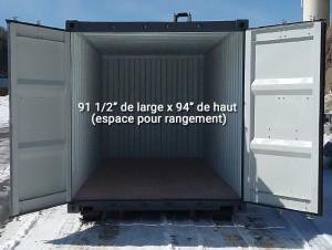 Location de conteneur d'entreposage